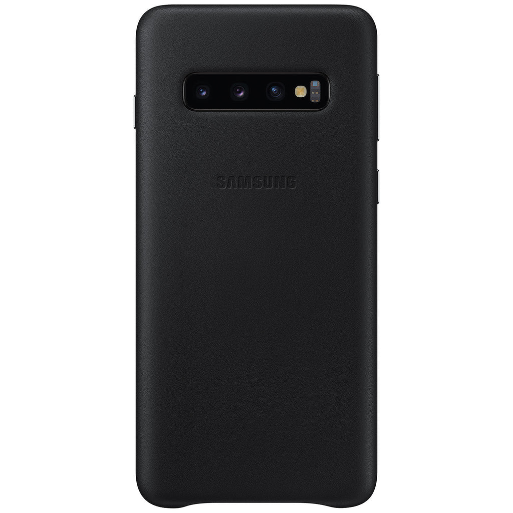 Samsung Galaxy S10 Genuine Leather Cover Case - Black - Gearlyst