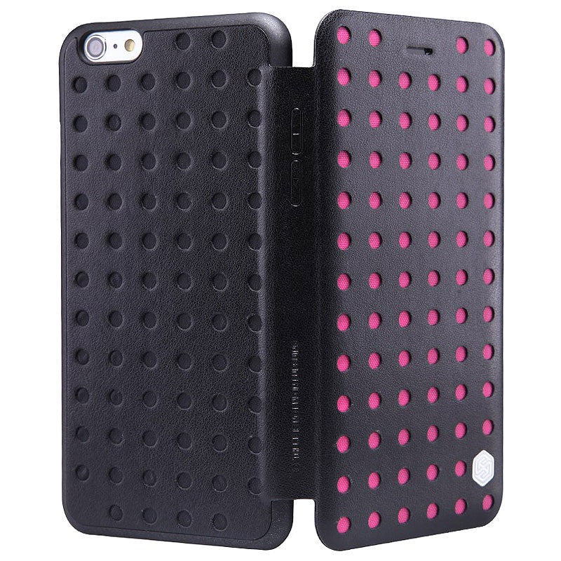 Nillkin iPhone 6 Plus /6s Plus POP Folio Leather Case - Hot Pink - Gearlyst