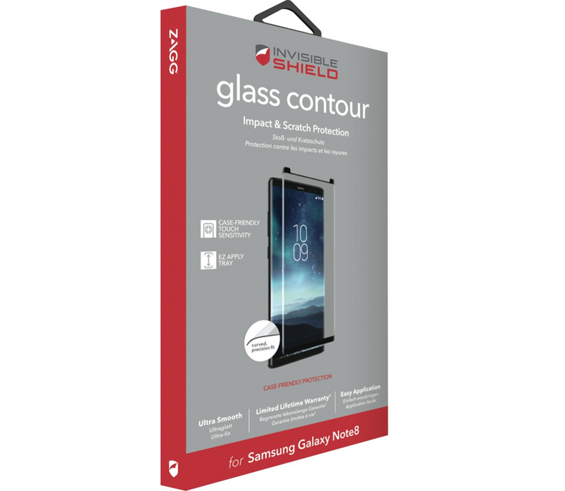 ZAGG InvisibleShield Glass Contour CF Screen Protector for Galaxy Note 8