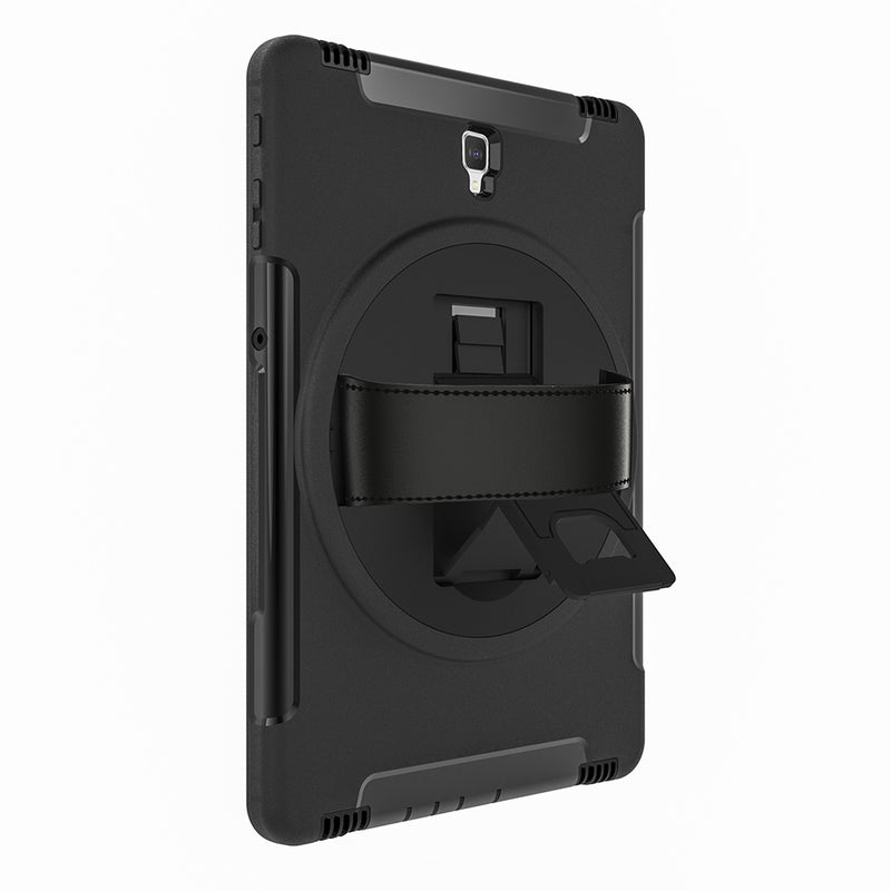 Samsung Galaxy Tab S4 Rugged Case with Built-in Screen Protector - Black - Gearlyst