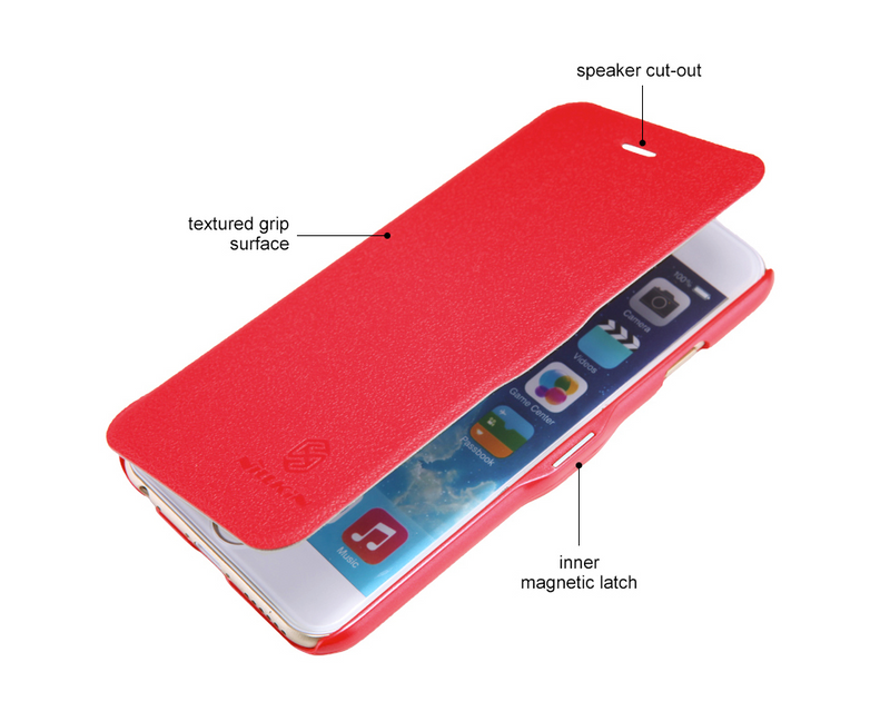 Nillkin Fresh Super Slim Magnetic Closure Case for iPhone 6/6s - Red - Gearlyst