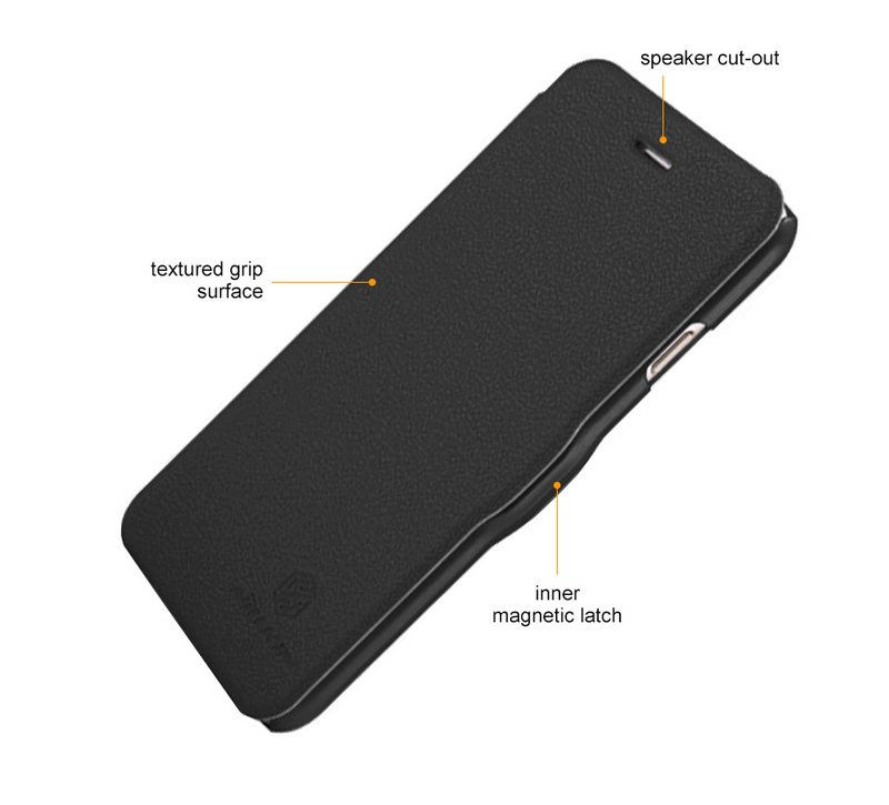 Nillkin Fresh iPhone 6 Plus / 6s Plus Super Slim Magnetic Closure Case - Black - Gearlyst