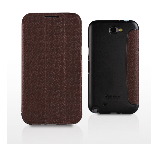 Yoobao Samsung Galaxy NOTE 2 Fashion Leather Case - Brown - Gearlyst