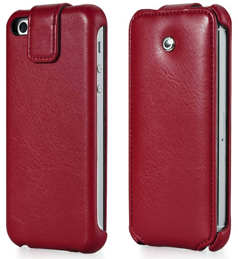 GGMM iPhone 4/4s Genuine Leather Flip Case - Red - Gearlyst