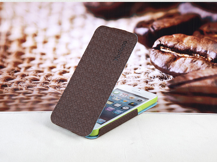 Yoobao Fashion Leather Flip Case for iPhone 5/5s - Brown - Gearlyst