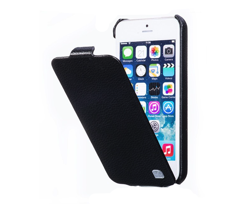 HOCO Duke Leather Flip Cover for iPhone 5/5s - Black - Gearlyst