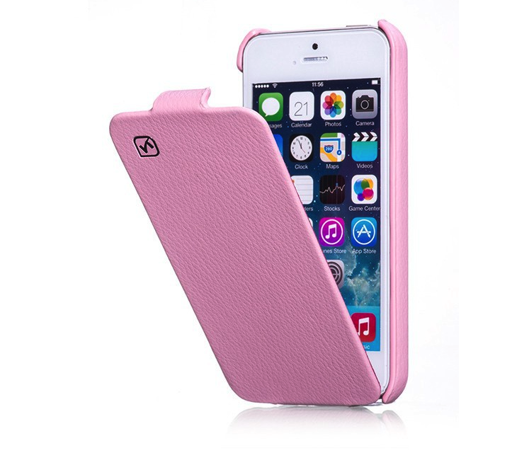 HOCO Duke Leather Flip Case for iPhone 5/5s - Pink - Gearlyst