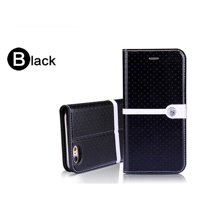 Nillkin ICE Series Fashion Leather Case for iPhone 6/6s - Black - Gearlyst
