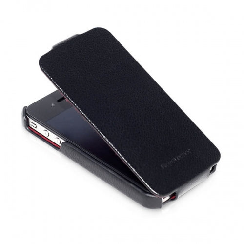 HOCO Duke Advanced Flip Leather Case for iPhone 4/4s - Black - Gearlyst