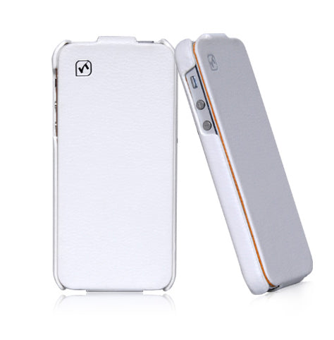 HOCO Duke Flip Leather Case for iPhone 5/5s - White - Gearlyst