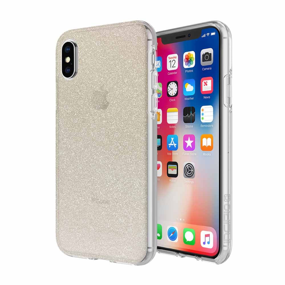 Incipio Design Series Rigid Hard Shell Case for iPhone XS/X - Champagne Glitter - Gearlyst