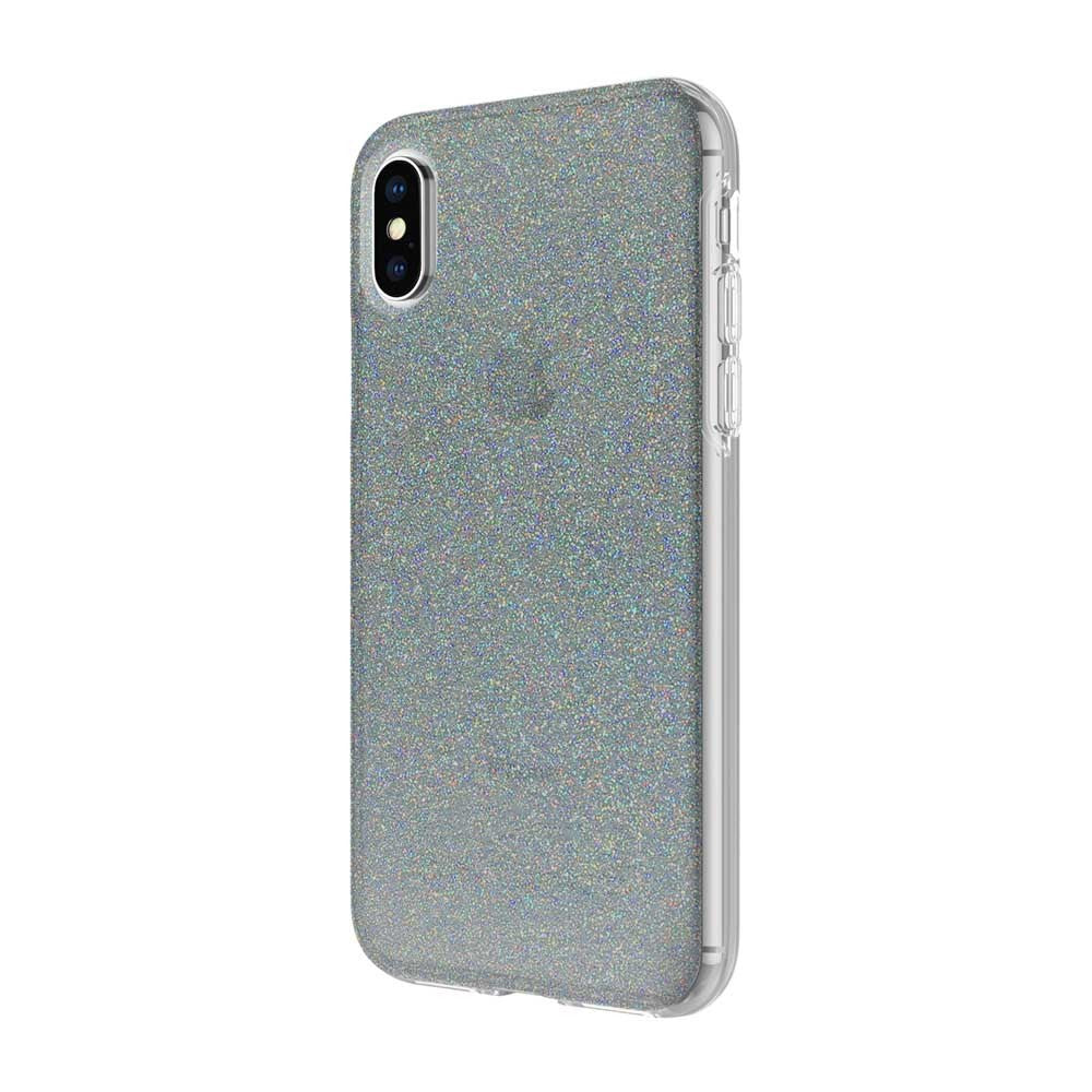 6ab234b949a Incipio Design Series Rigid Hard Shell Case for iPhone XS/X - MIDNIGHT  CHROME MULTI-GLITTER