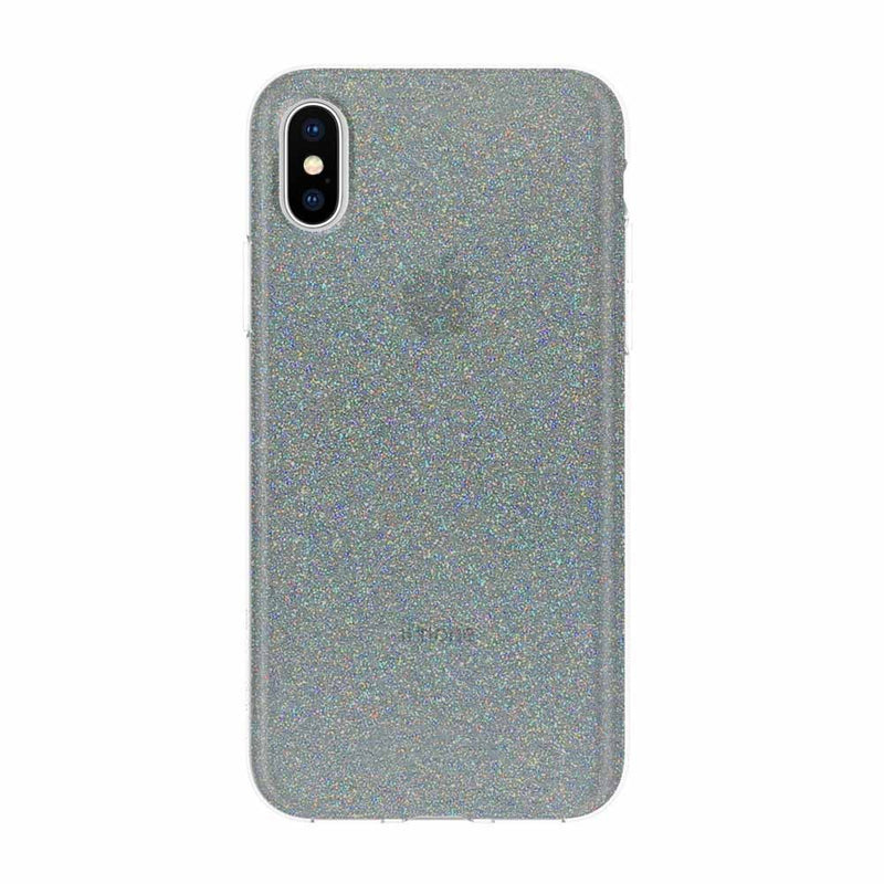 Incipio Design Series Rigid Hard Shell Case for iPhone XS/X - MIDNIGHT CHROME MULTI-GLITTER - Gearlyst