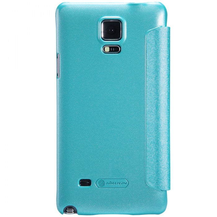 Nillkin Sparkle Leather Window Smart Cover for Galaxy NOTE 4 - Blue - Gearlyst