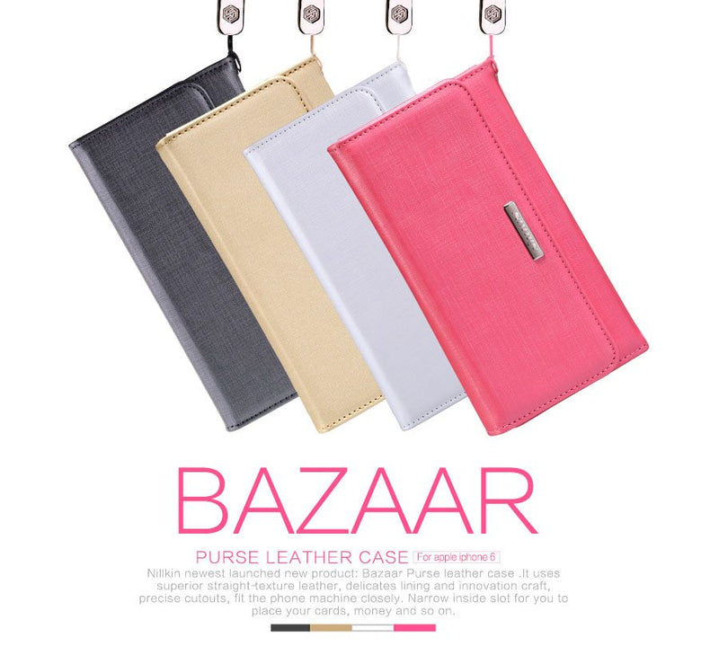 Nillkin Bazaar Purse Leather Wallet Case for iPhone 6 Plus /6s Plus - Gearlyst