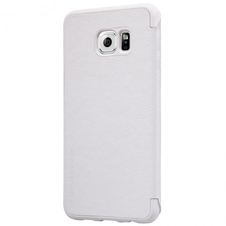 Nillkin QIN Samsung Galaxy S6 Slim Leather Case with Card Pocket - White - Gearlyst