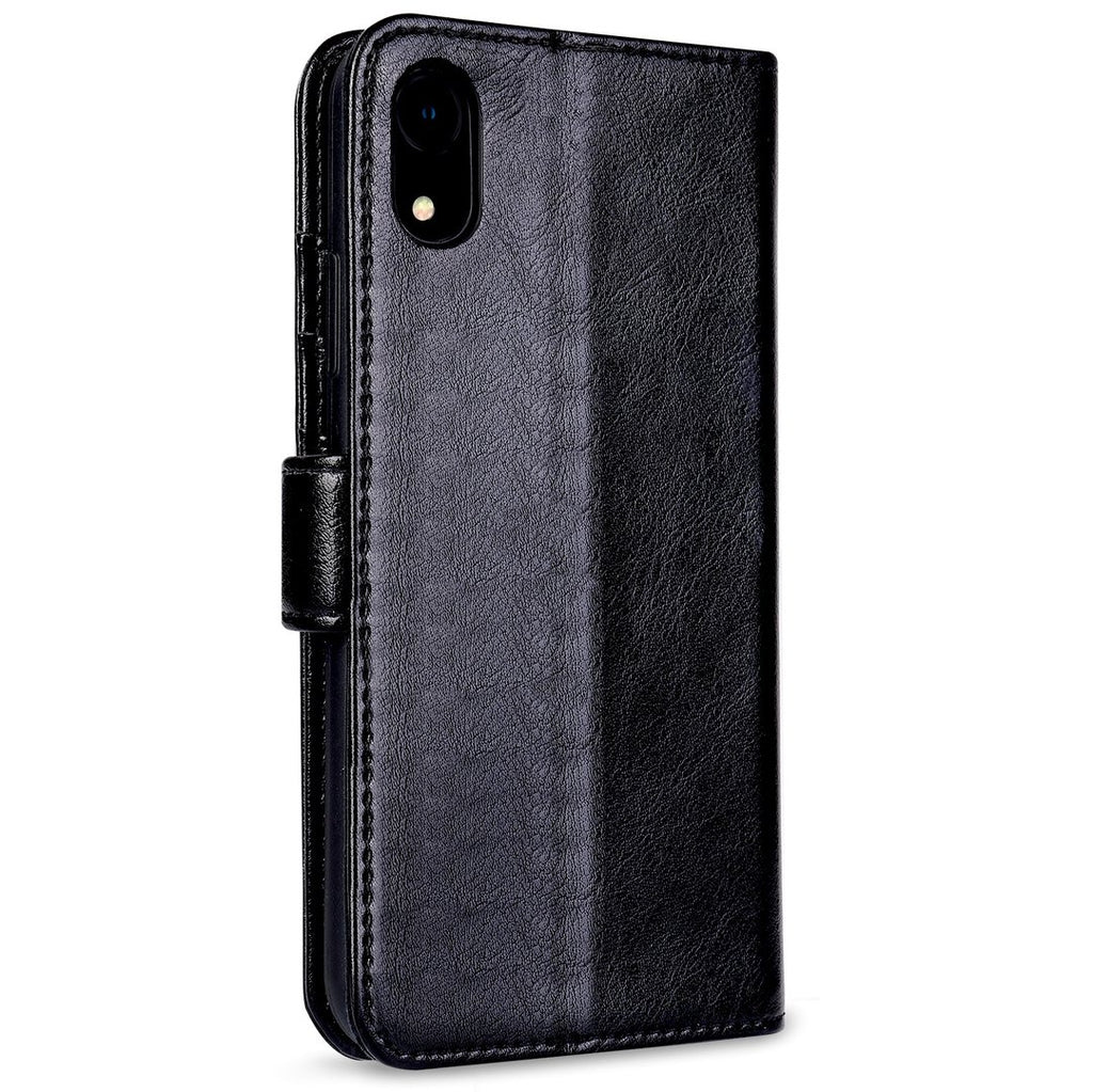 OAKTREE iPhone XS Premium Leather Wallet Case - Black - Gearlyst