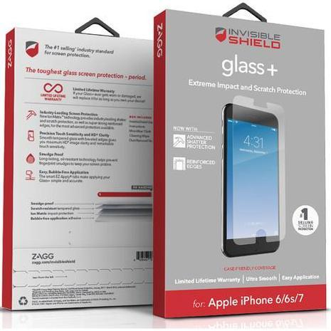 ZAGG Invisible Shield Glass+Tempered Screen Protector for iPhone 8 Plus /7 Plus - Gearlyst