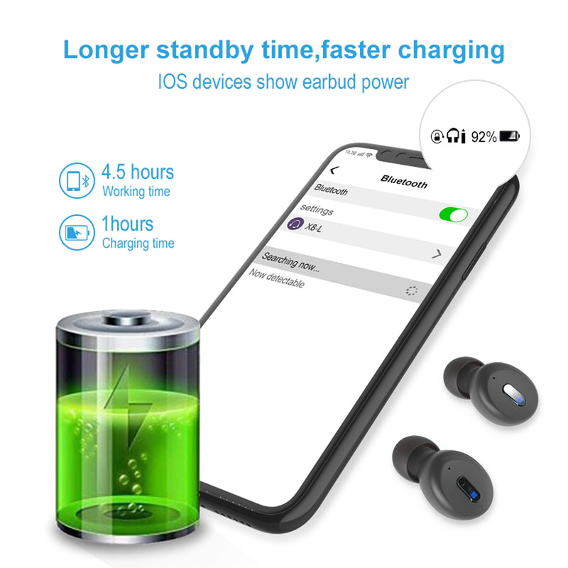Wireless in-ear TWS Bluetooth 5.0 Earphones Waterproof earbuds For iPhone Android - Gearlyst