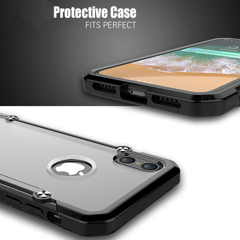 GearLyst ShockProof Rugged Tough Case For iPhone XS/X- Black - Gearlyst