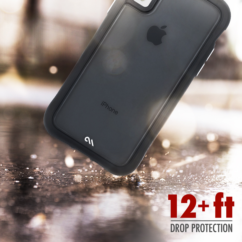 "CASE-MATE TRANSLUCENT PROTECTION RUGGED CASE For iPhone XS MAX (6.5"") - BLACK - Gearlyst"