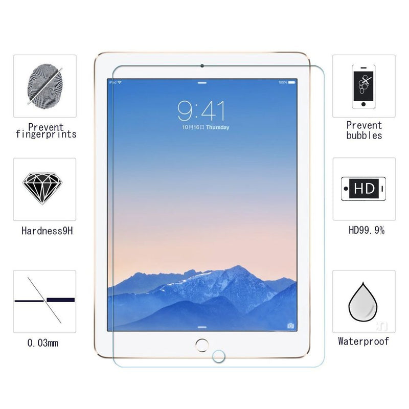Nuglass 9H Tempered Glass Screen Protector for iPad Air 1 / 2 - Gearlyst