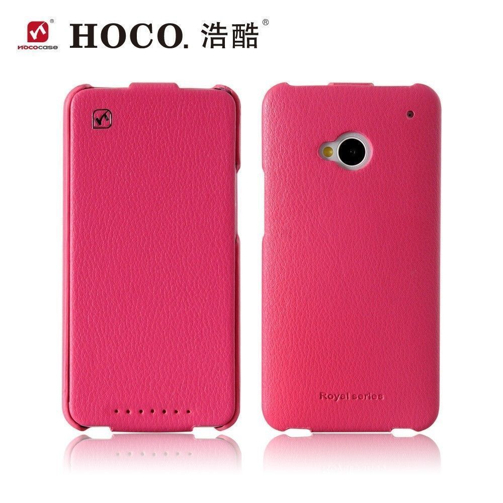 buy online 5fd41 a52e5 HOCO Duke Real Leather Flip Case for HTC One M7