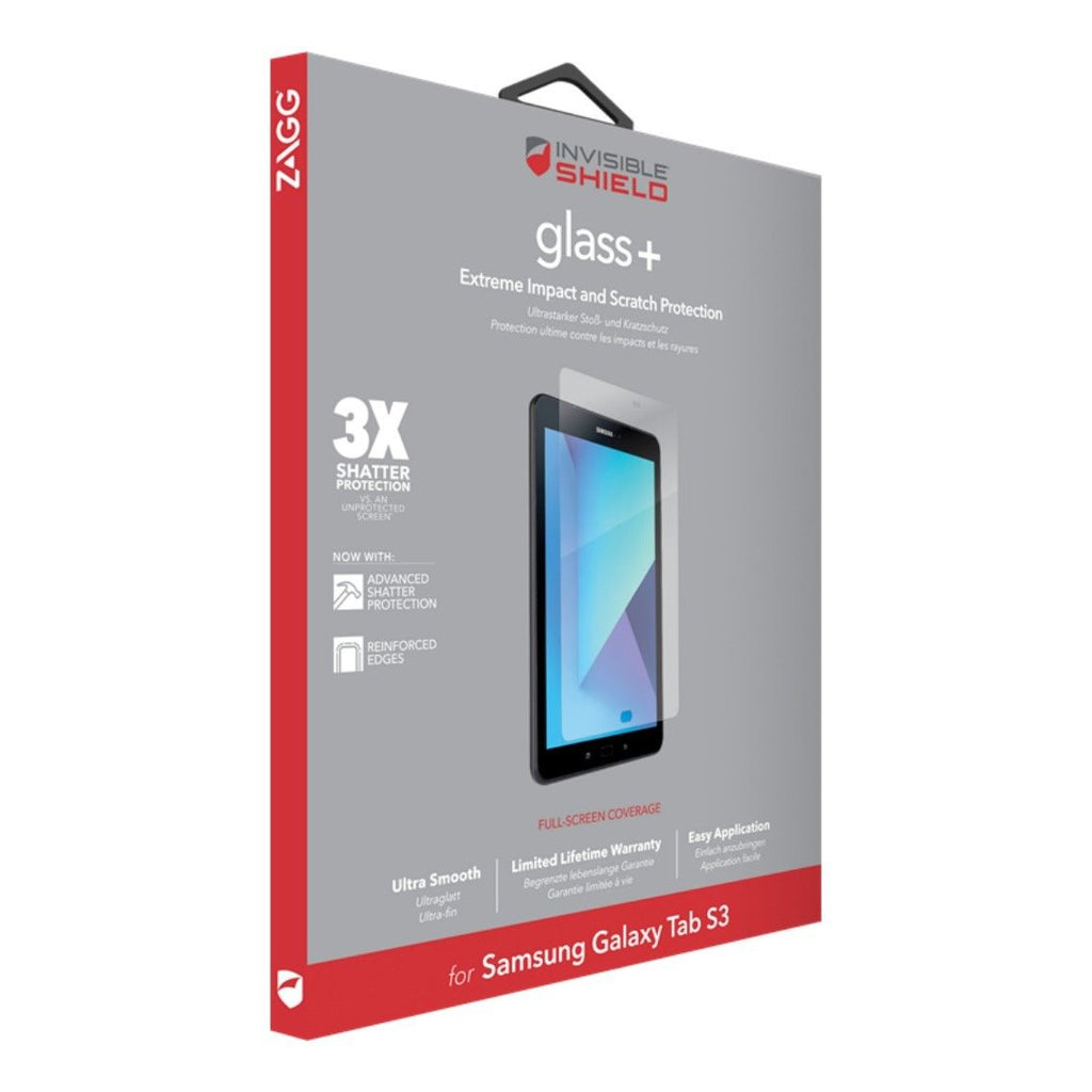 ZAGG INVISIBLESHIELD TEMPERED GLASS PLUS SCREEN PROTECTOR FOR GALAXY TAB S3 9.7 - Gearlyst