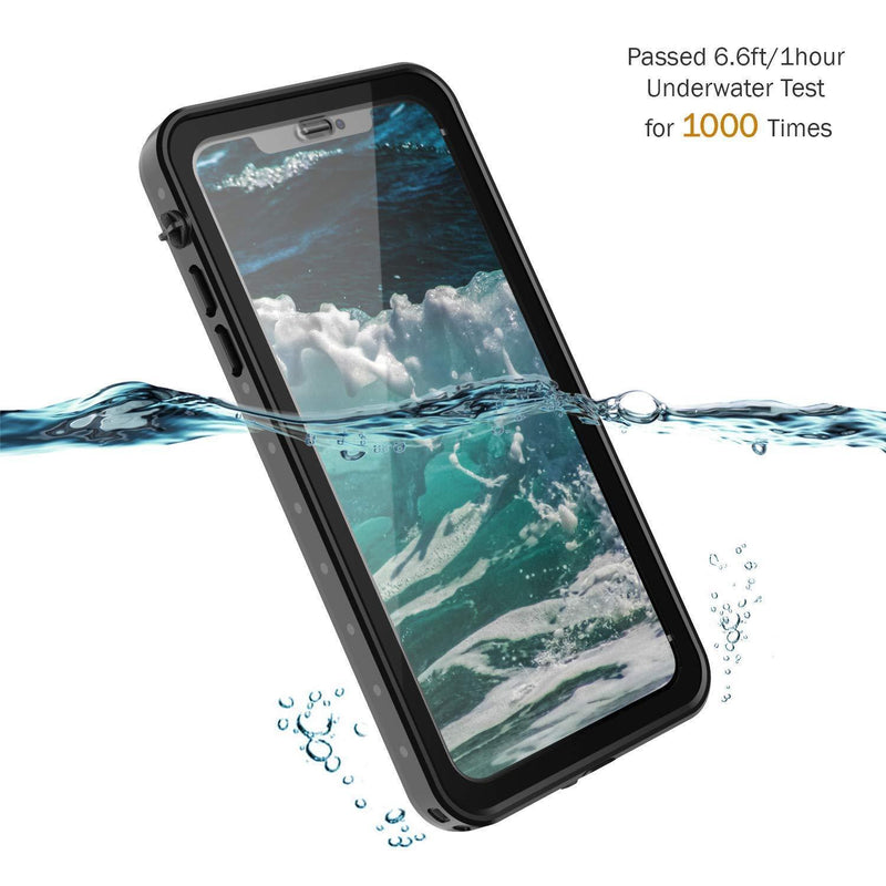 iPhone X WaterProof Shockproof Rugged Case DOTPRO - Black - Gearlyst