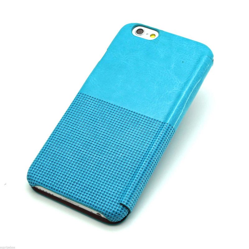 HOCO Crystal Series Leather Case {Blue) for iPhone 6 Plus / iPhone 6s Plus - Gearlyst