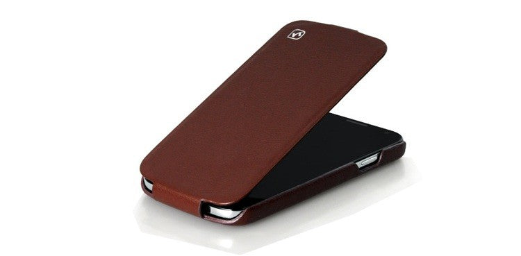 HOCO DUKE Premium Leather Flip Case for Samsung Galaxy S4 - Brown - Gearlyst