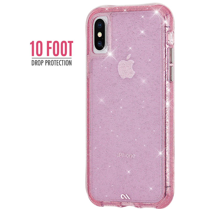 "CASE-MATE SHEER CRYSTAL STREET CASE SUITS IPHONE X/XS (5.8"") - BLUSH PINK - Gearlyst"