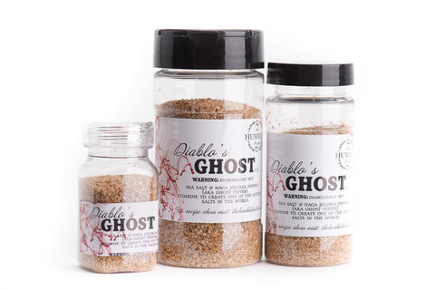 Ghost Pepper Gourmet Sea Salt. Hottest Salt in world