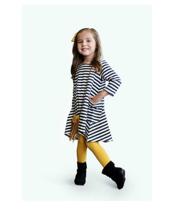 BOXED OUTFIT - Black/White Striped Tunic
