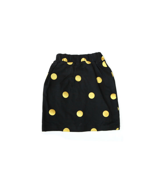 Black and Gold Polka Dot Skirt