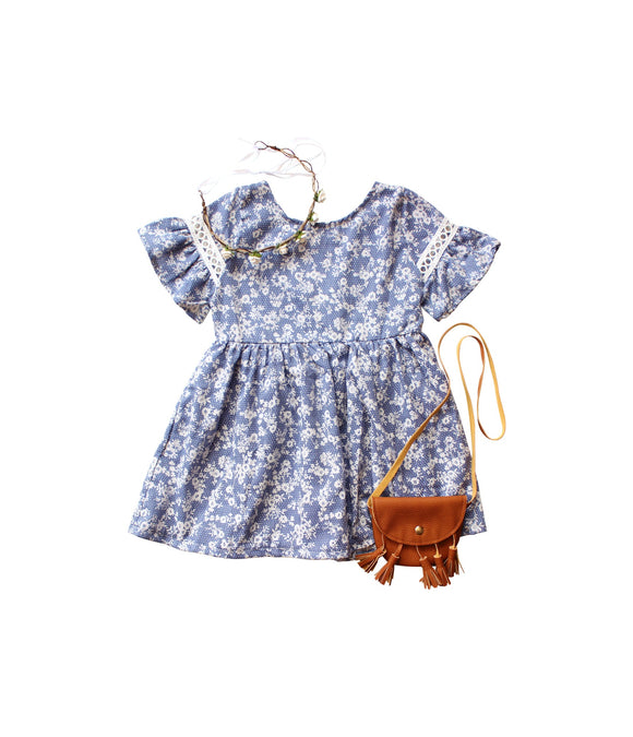 BOXED OUTFIT - Blue Floral Dress