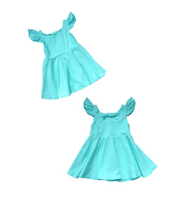 Light Aqua Bow Back Dress