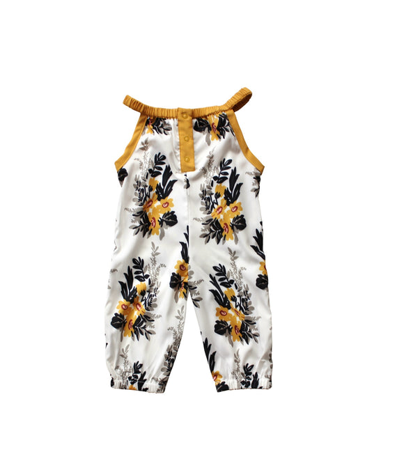 Mustard/Gray Floral Jumpsuit