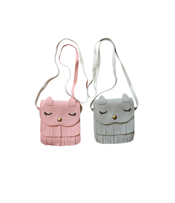 Fringe Sleeping Cat Purse