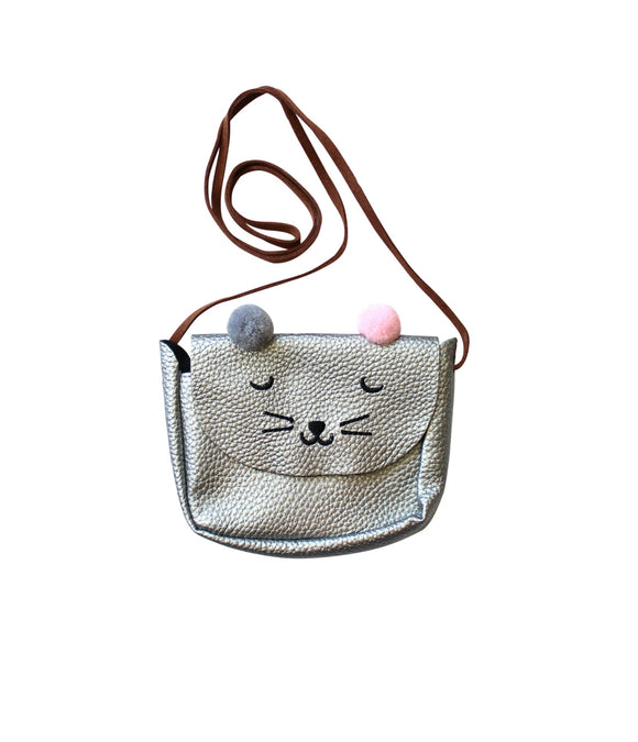 Gray Mouse Pom Pom Purse