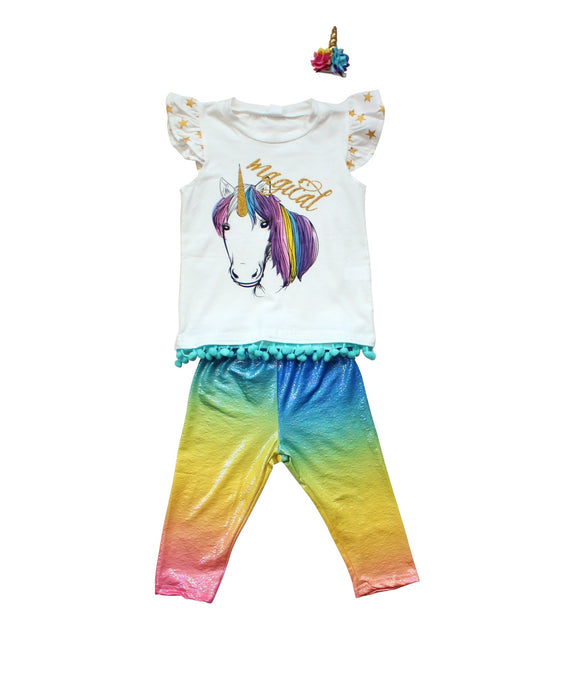 BOXED OUTFIT - Rainbow Unicorn