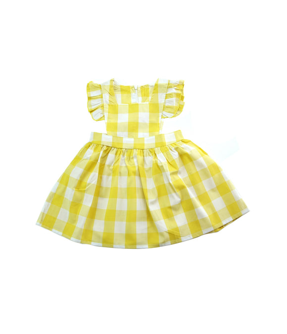 Yellow Plaid Jumper Dress