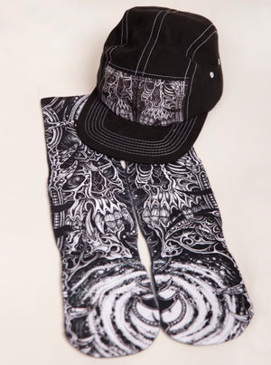KEENAN BOUCHARD 5 PANEL CAMP HAT + SOCKS COMBO