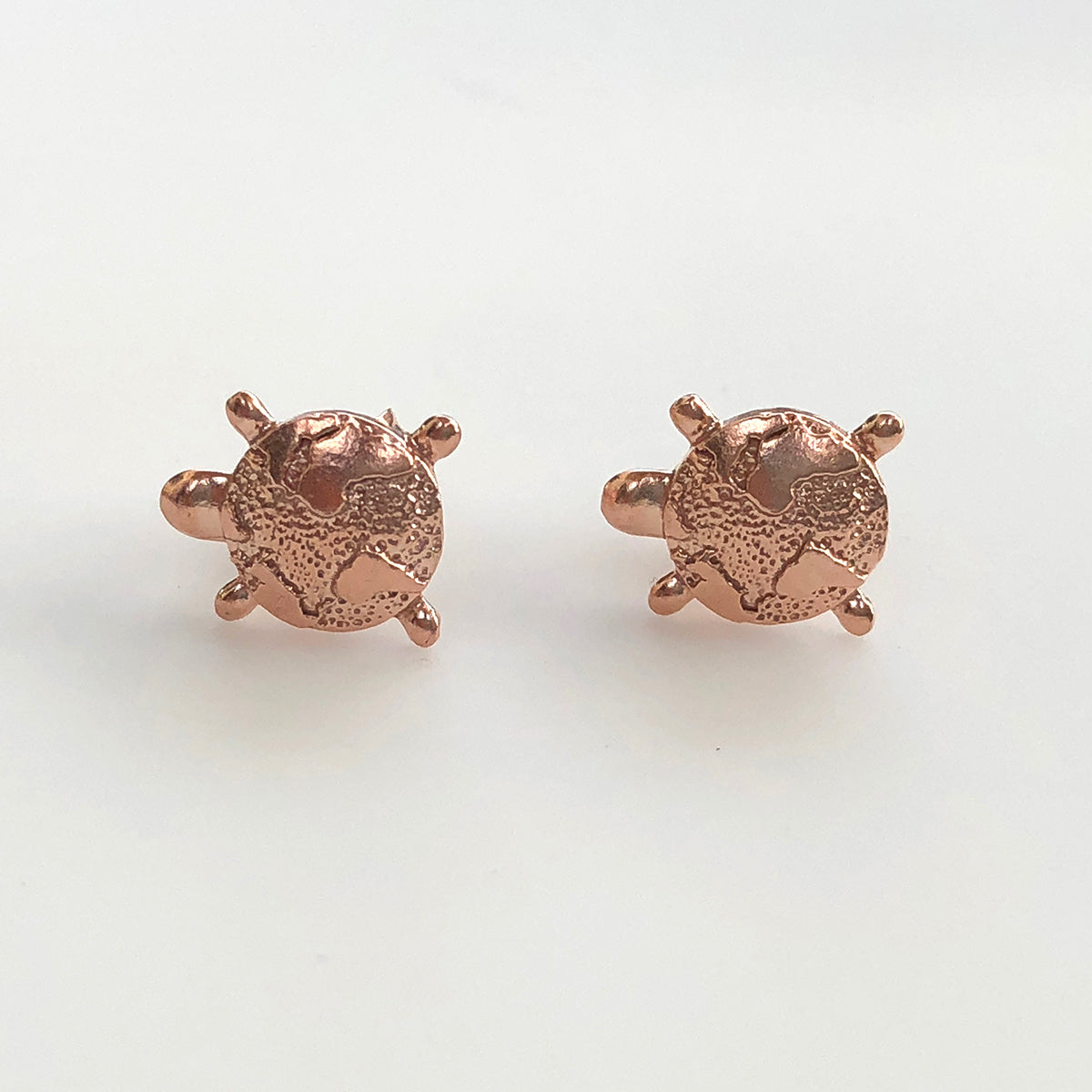 tortoise stud rose dotoly in gold plus turtle animal original earrings sea cute products