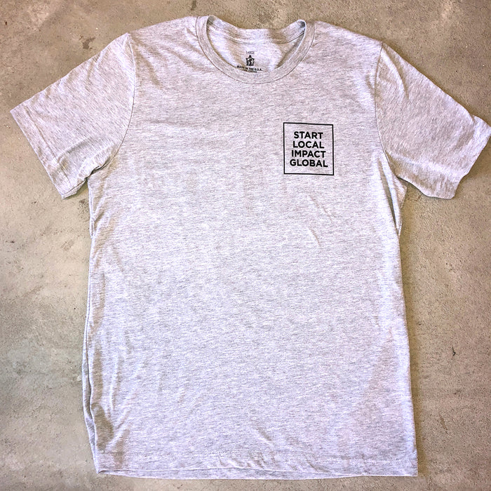 SHORT SLEEVE HEATHER GREY ESTABLISHED TEE