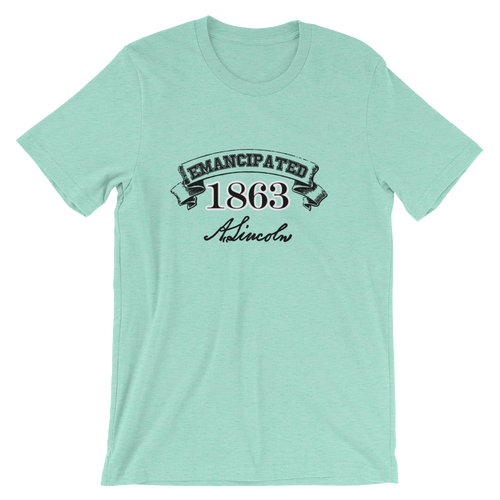 Emancipated 1863 Lincoln Signature T-shirt