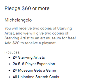 Starving Artists - Michelangelo Pledge