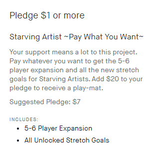 Starving Artists - Pay What You Want Pledge