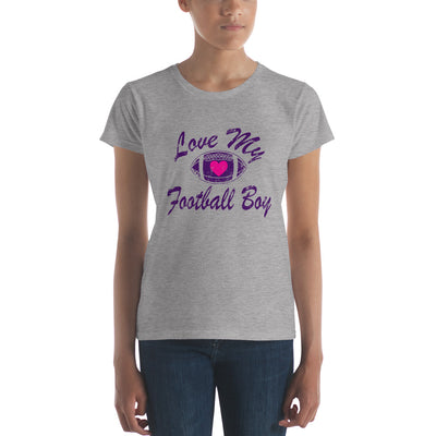 Love my football boy Women's short sleeve t-shirt
