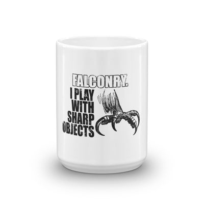 ''FALCONRY. I PLAY WITH SHARP OBJECTS'' Coffee Mug